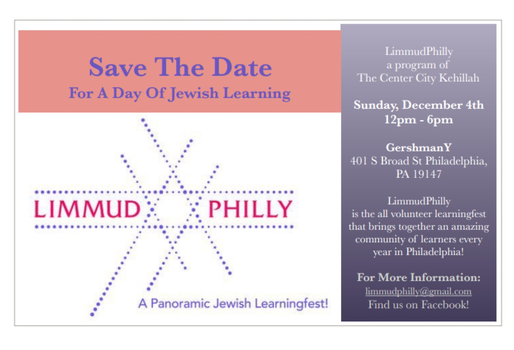 Limmud save the date