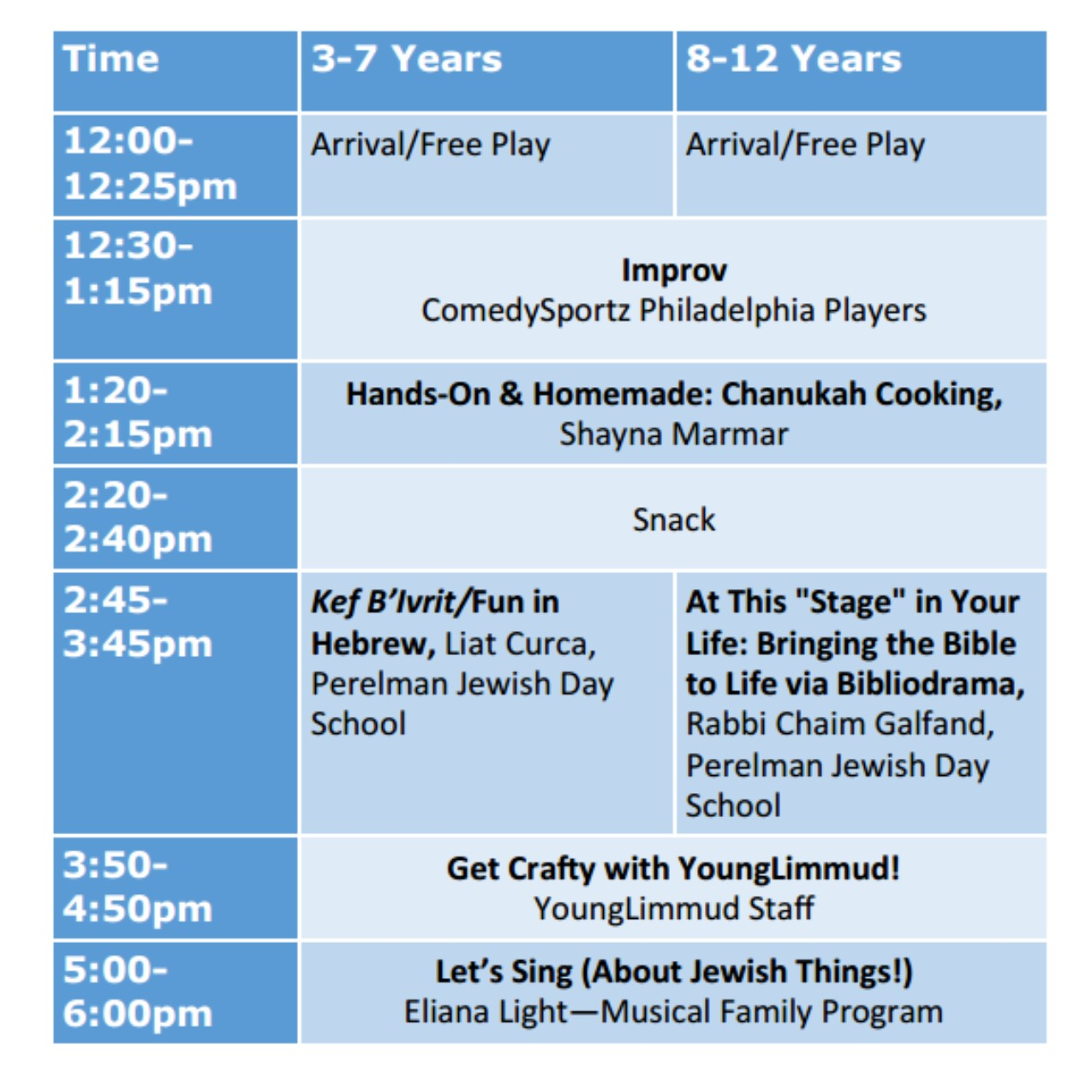 young-limmud-schedule