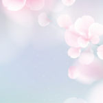 Nature background with blossom branch of pink flowers.